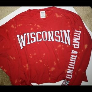 Victoria's Secret Wisconsin Badgers crop top